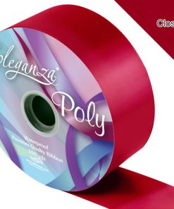 Eleganza 50mm Poly Ribbon Radiant Claret