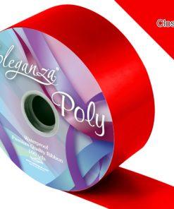 Eleganza 50mm Poly Ribbon Radiant Red