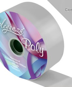 Eleganza 50mm Poly Ribbon Silver