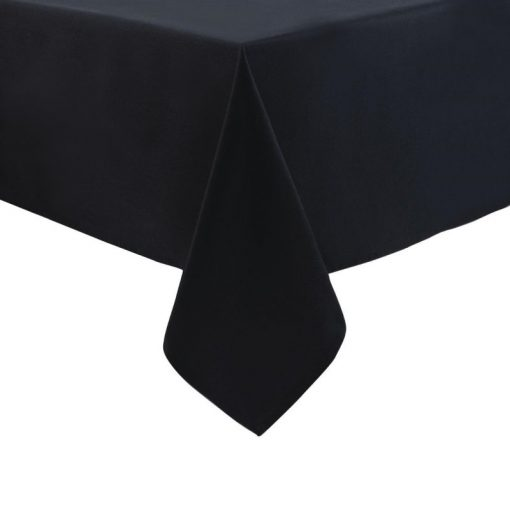 """Hire - 90"""" Black Square Linen Table Cloth"""
