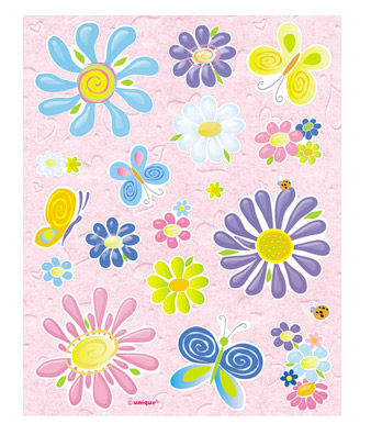 Birthday Flowers Sticker Sheets