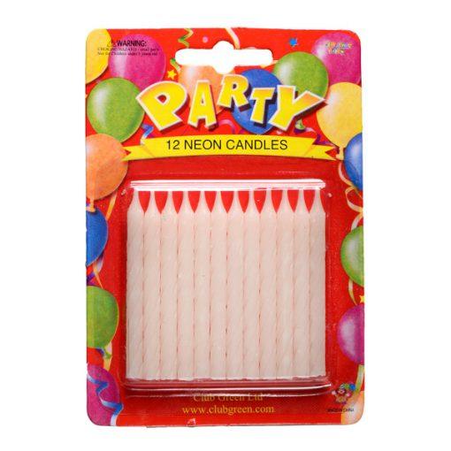 Neon Birthday Candles