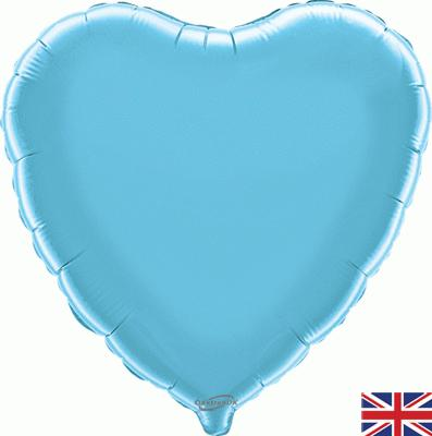 "18"" Light Blue Heart Foil"
