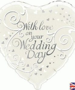 "18"" With Love On Your Wedding Day Foil"