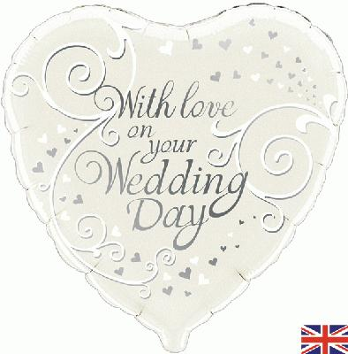 """18"""" With Love On Your Wedding Day Foil"""