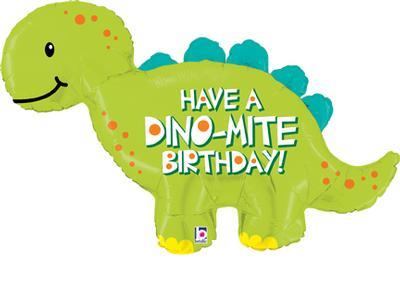 Dino-Mite Birthday Shape Foil