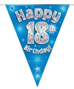 Party Bunting Happy 18th Birthday Blue