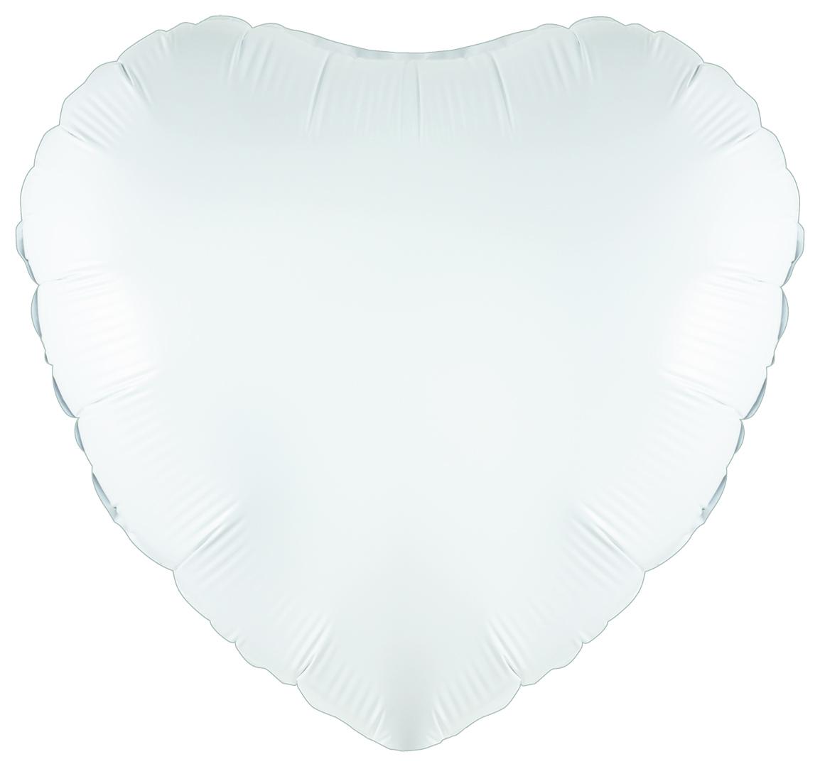 """18"""" White Heart Foil"""