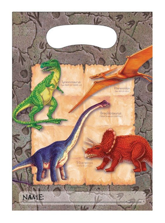 Digging for Dinos Party Bags.