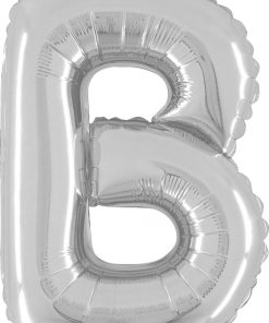 Air Filled 14 Inch Silver Letter B