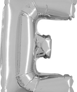 Air Filled 14 Inch Silver Letter E