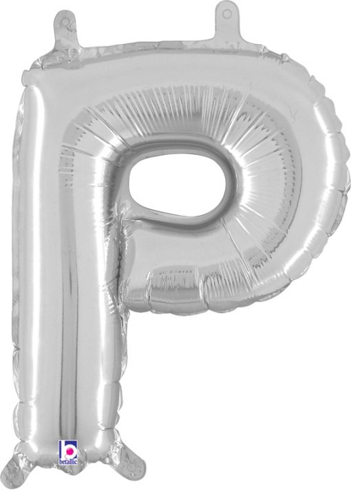 Air Filled 14 Inch Silver Letter P