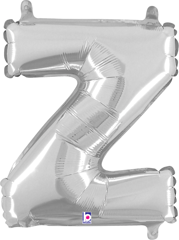 Air Filled 14 Inch Silver Letter Z