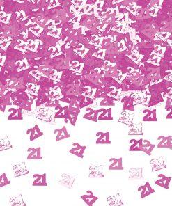 Pink Shimmer 21 Metallic Confetti