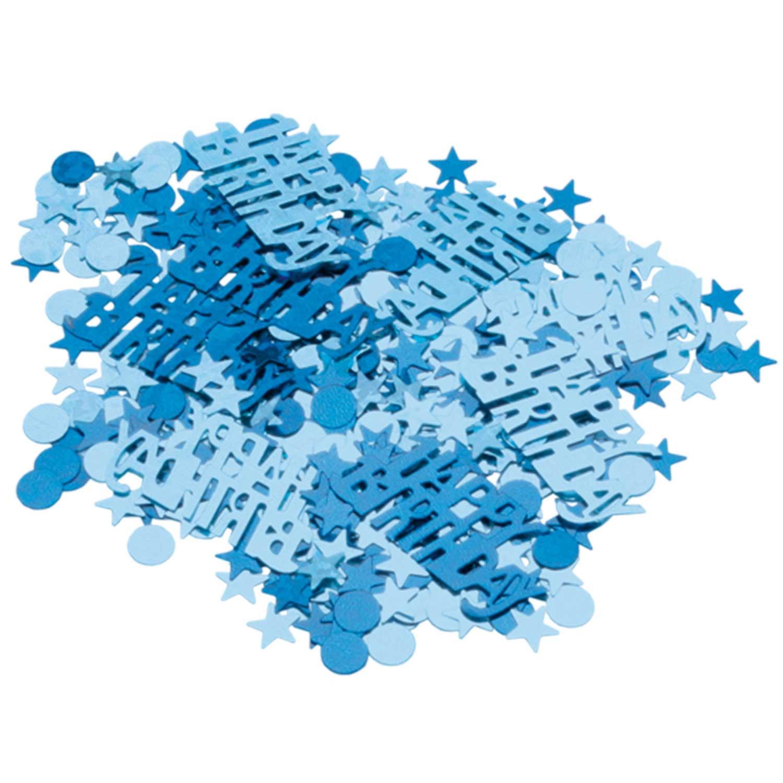 Blue Sparkle Happy Birthday Metallic Confetti