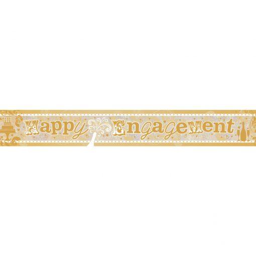 Happy Engagement Holographic Foil Banner