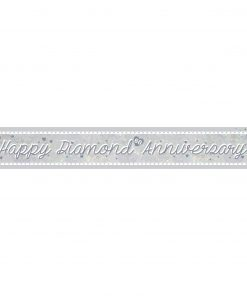 Diamond Anniversary Holographic Foil Banner