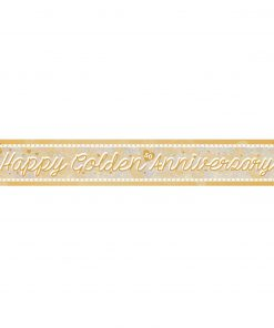 Golden Anniversary Holographic Foil Banner