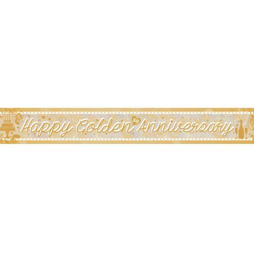 Golden Anniversary Holographic Foil Banner