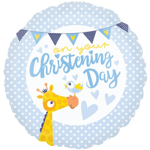 "18"" Christening Day Blue Foil"