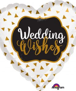"18"" Wedding Wishes Gold Foil"