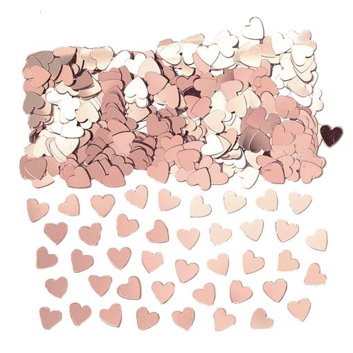 Hearts Rose Gold Confetti