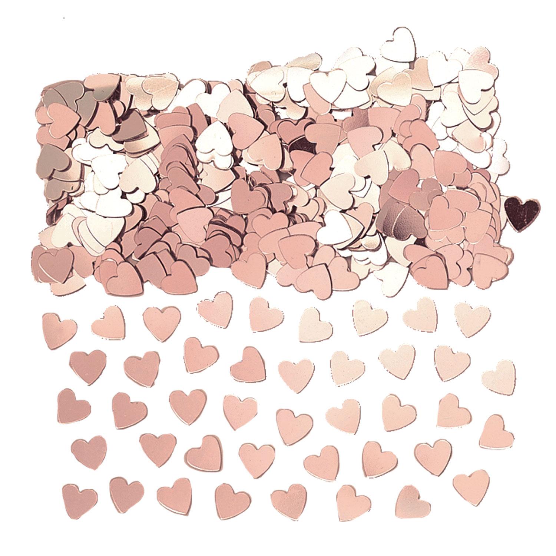 Hearts Rose Gold Confetti