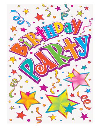 Birthday Stars Party Invitations