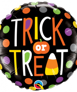 Halloween Trick or Treat Dots Foil