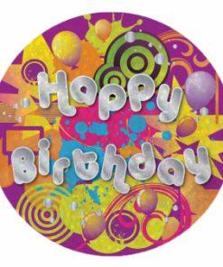 Happy Birthday Girl Badge Holo