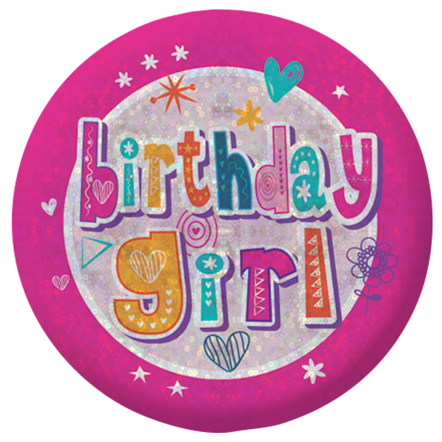Happy Birthday Girl Badge