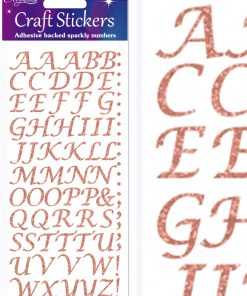 Eleganza Craft Stickers Stylised Alphabet Set Rose Gold No.87