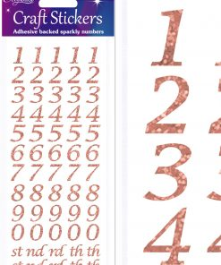 Eleganza Craft Stickers Stylised Number Set Rose Gold No.87