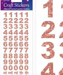 Eleganza Craft Stickers Bold Number Set Rose Gold No.87