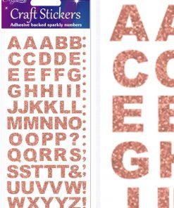 Eleganza Craft Stickers Bold Alphabet Set Rose Gold No.87