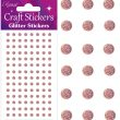 Eleganza Craft Stickers 4mm 112 Glitter gems Rose Gold No.87