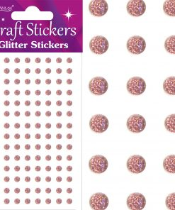 Eleganza Craft Stickers 4mm 112 Glitter gems Rose Gold No.87