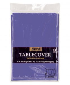 Plastic Round Tablecover New Purple