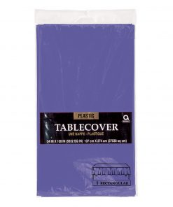 Plastic Rectangular Tablecover New Purple