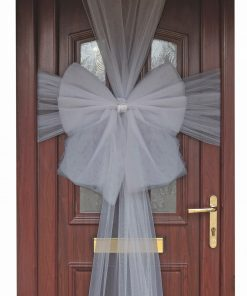 Eleganza Silver Door Bow