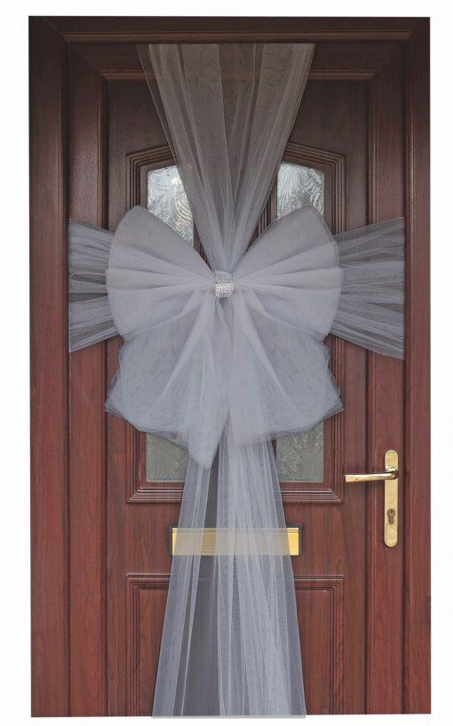 Eleganza Silver Door Bow