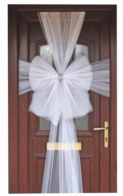 Eleganza White Door Bow