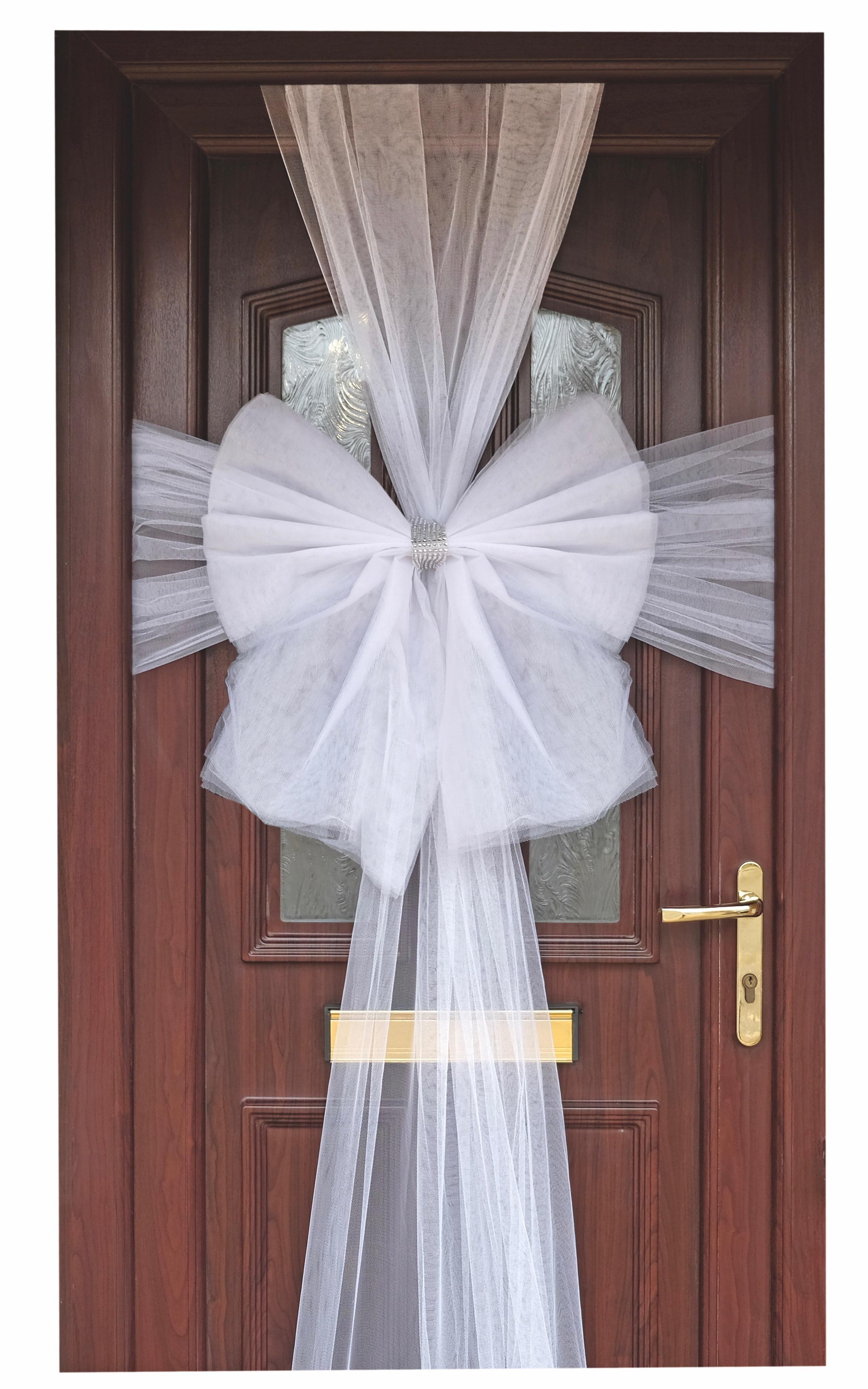 Eleganza White Door Bow