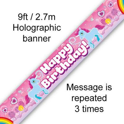 Unicorn Rainbow Birthday Banner