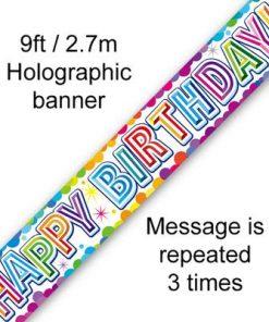 Colourful Confetti Birthday Metallic Banner