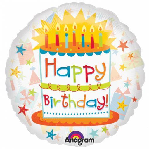"""18"""" Birthday Exhilaration See-Thru Foil"""