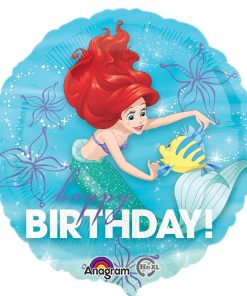 "18"" Ariel Dream Big Happy Birthday Foil"