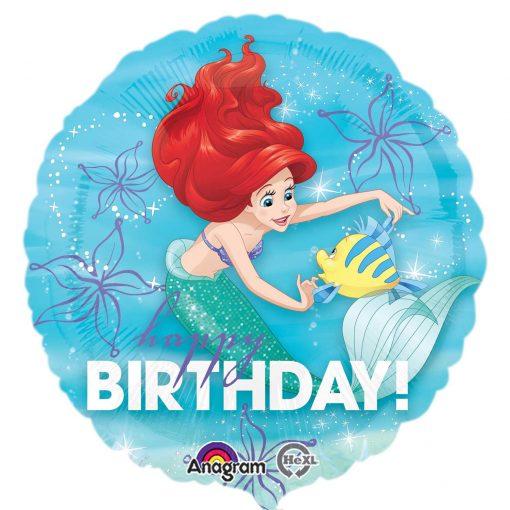 """18"""" Ariel Dream Big Happy Birthday Foil"""