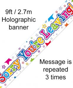 Sorry You're Leaving Stars Banner