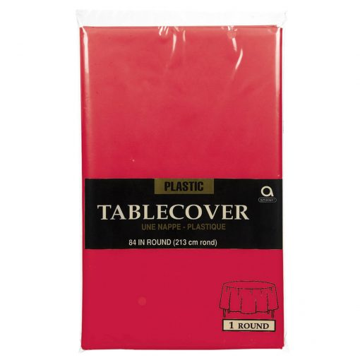 Plastic Round Tablecover Apple Red